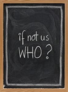 Chalk board with message