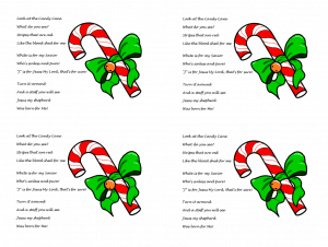 photo regarding Candy Cane Poem Printable known as Sweet Cane Poem over Jesus (Printable Handout)