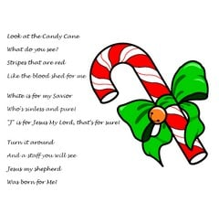 Candy Cane Poem about Jesus for Children