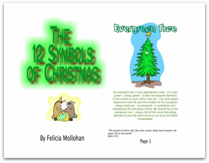 Symbols Of Christmas.Free Printable Christmas Book The 12 Symbols Of Christmas