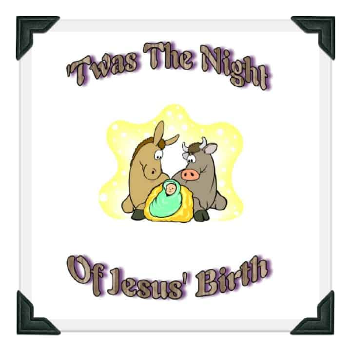 graphic regarding Twas the Night Before Jesus Came Printable called Printable Xmas Tale Poem - Twas the Evening of Jesus