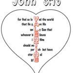 "Printable ""John 3:16"" Valentine Heart"