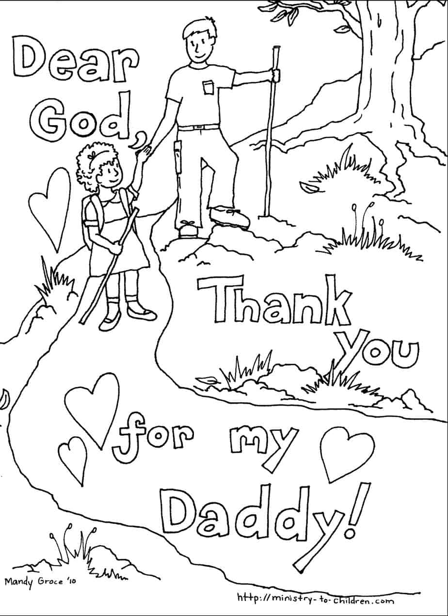 Childrens fathers day coloring pages - Father S Day Coloring Pages By Mandy Groce