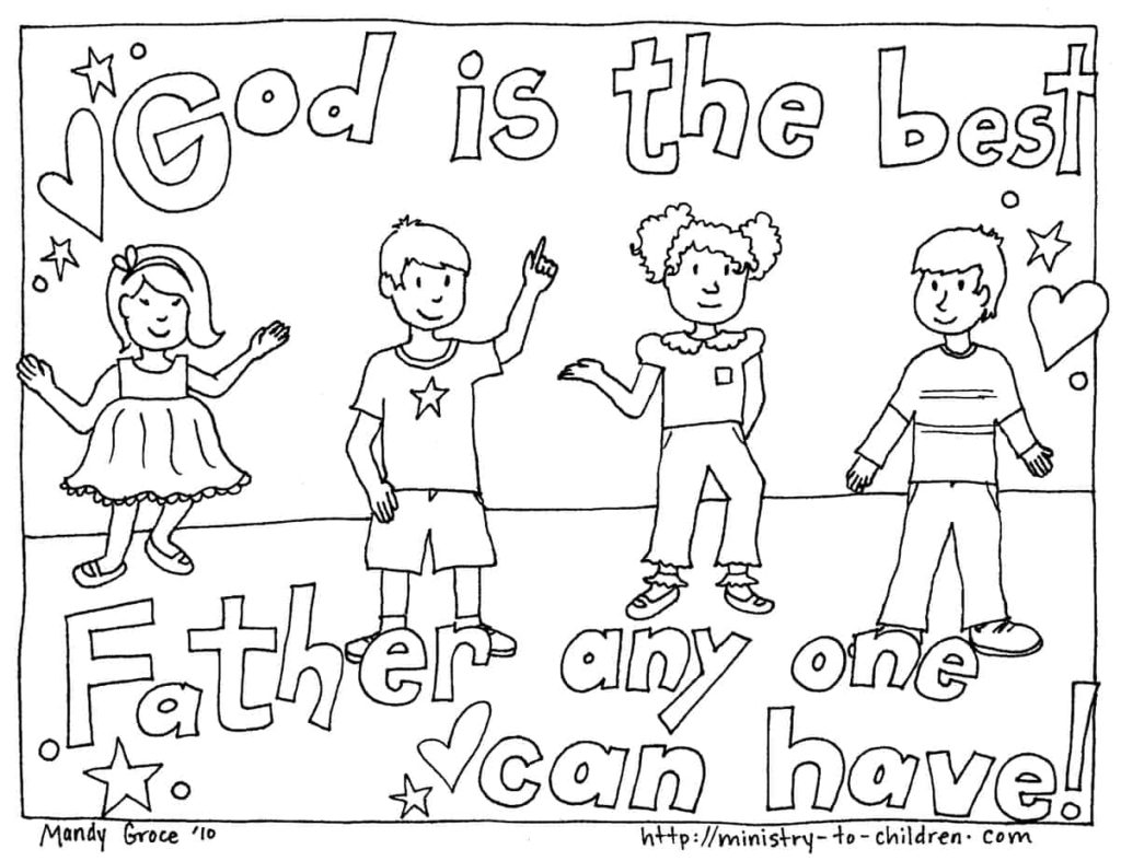 Coloring Page - God is the best father anyone can have