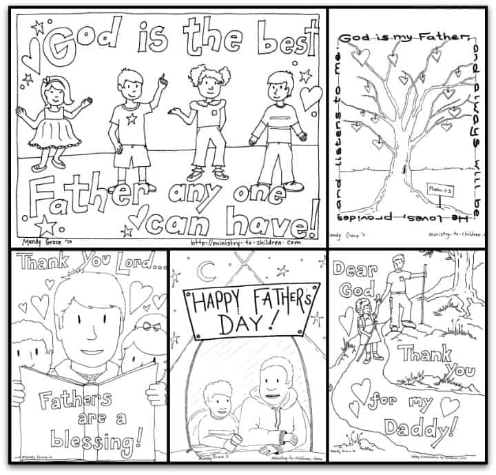 Free Father's Day Coloring Book (5 pages)