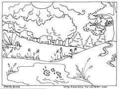 Creation Day 5 & 6 coloring page