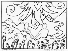 Printable Adam and Eve Coloring Pages For Kids | 179x240