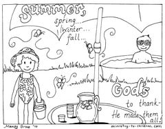 God Made Summer coloring Pages