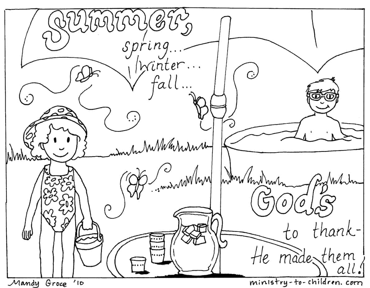 12 Summer Coloring Pages Easy Printable PDF 100% Free