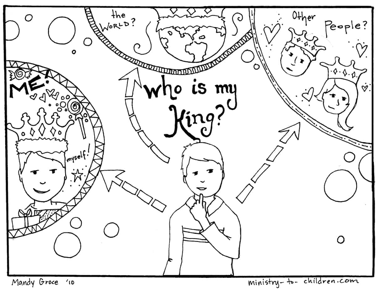 jesus our king colouring pages page 3