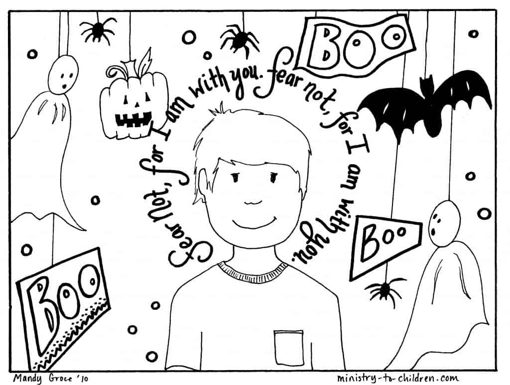 christian halloween coloring sheets