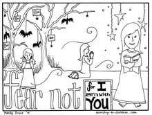 christain halloween coloring pages | Halloween Coloring Pages: Do Not Fear Bible Verse