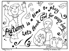 Autumn coloring page let s thank god for Christian fall coloring pages