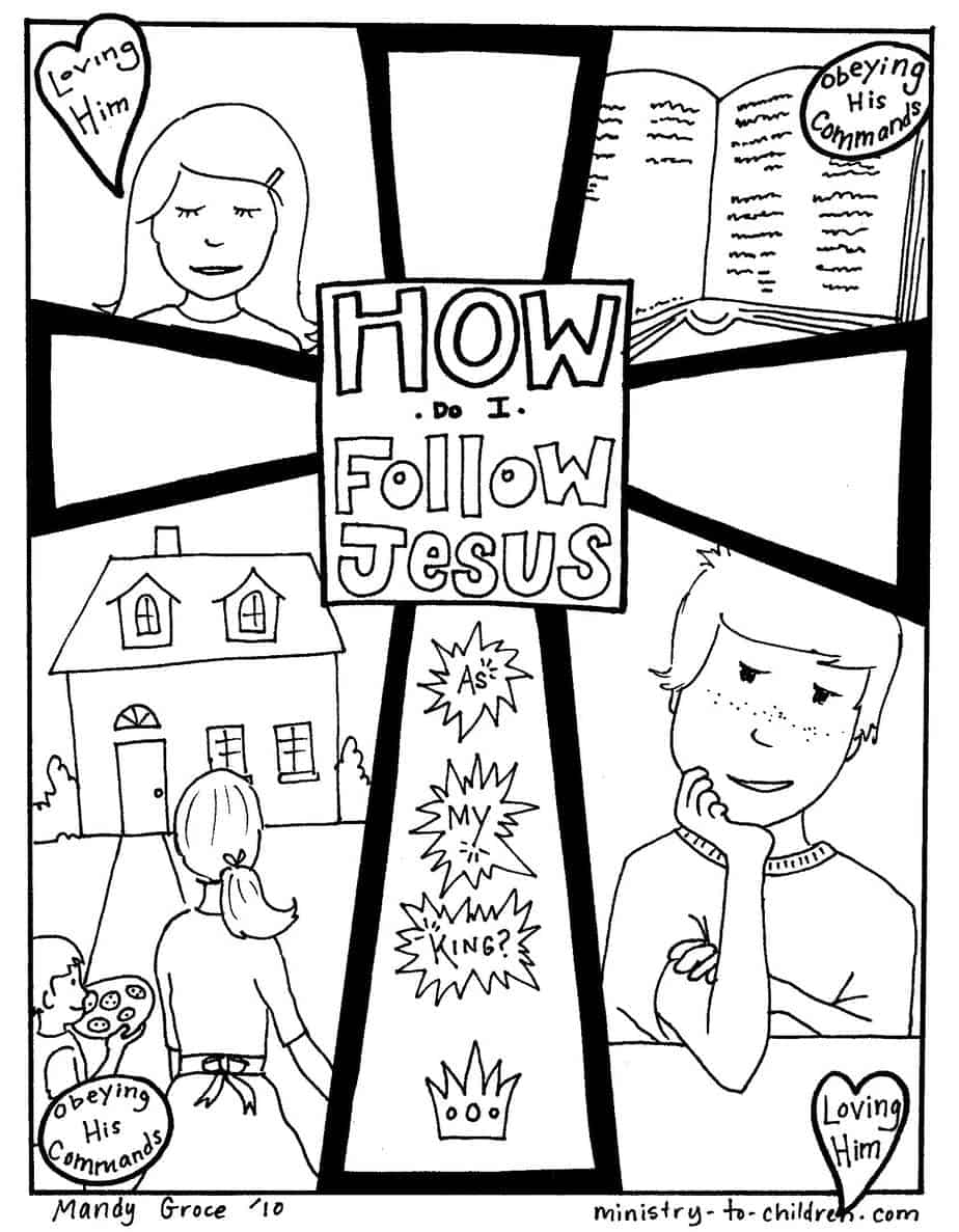 follow jesus coloring pages - photo#1
