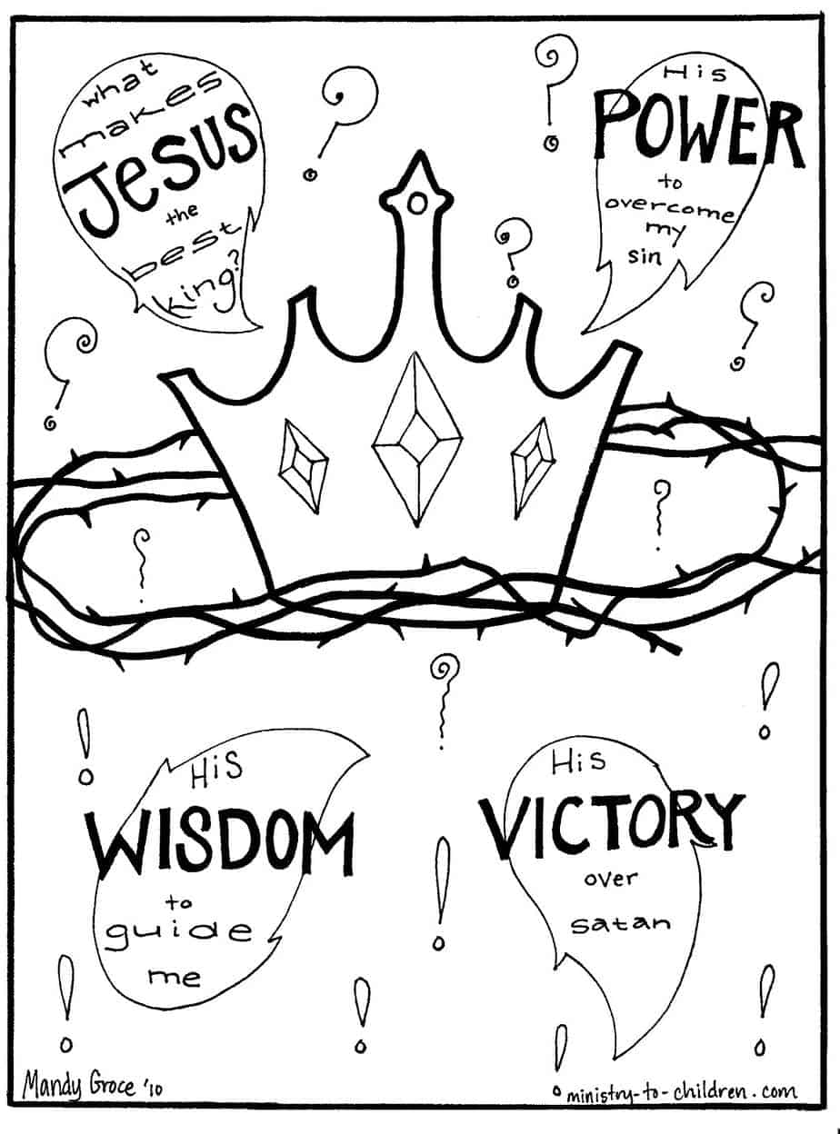 free king jesus coloring pages - photo#19