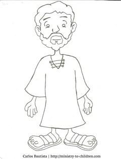 Jesus Cartoon Coloring Page