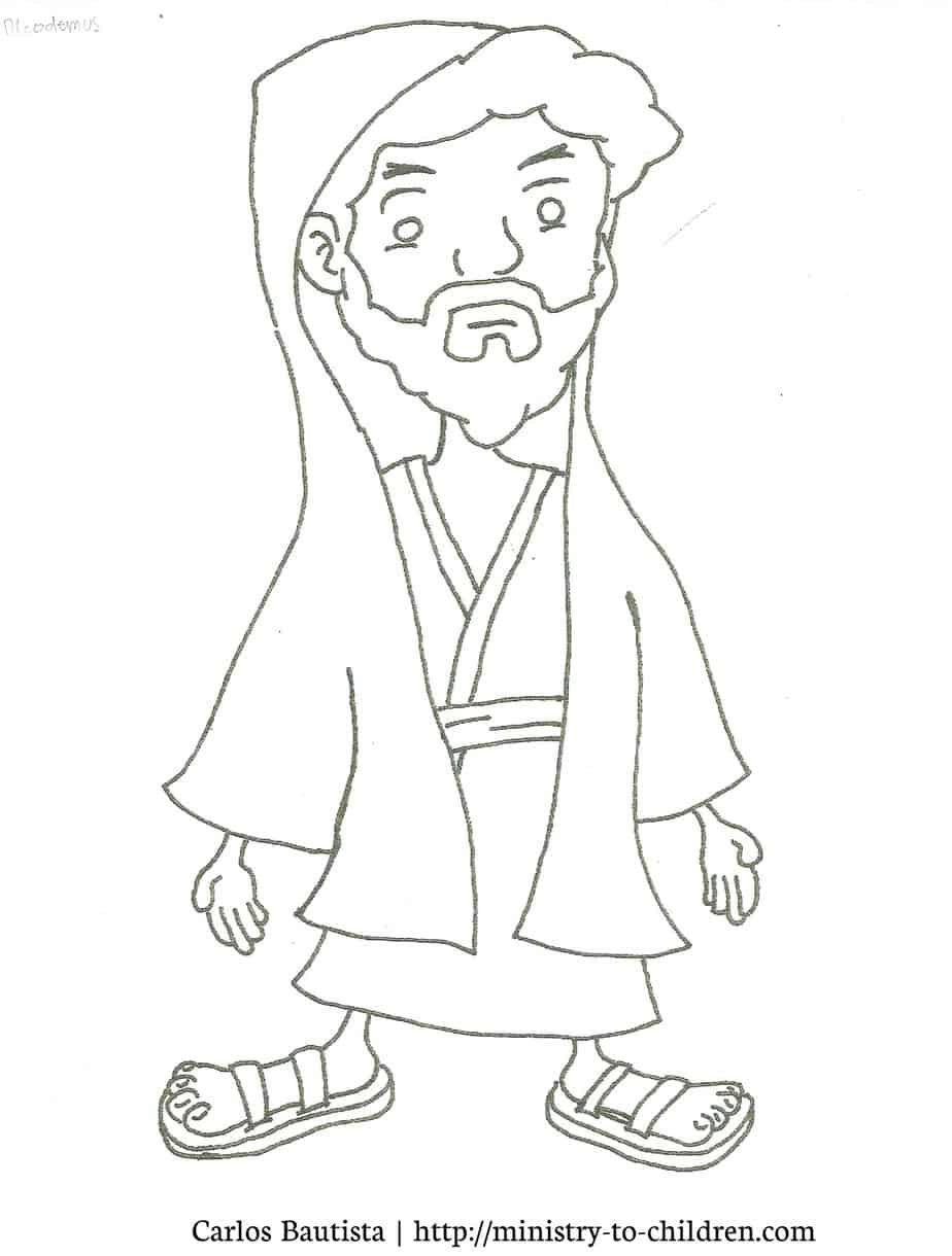 Ministry To Children Wp Content Uploads 2010 10 Nicodemus Coloring Page