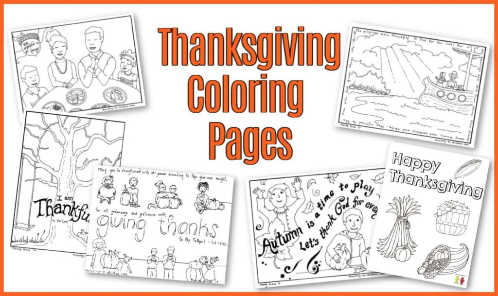 Thanksgiving Coloring Pages (Free Printable for Kids)