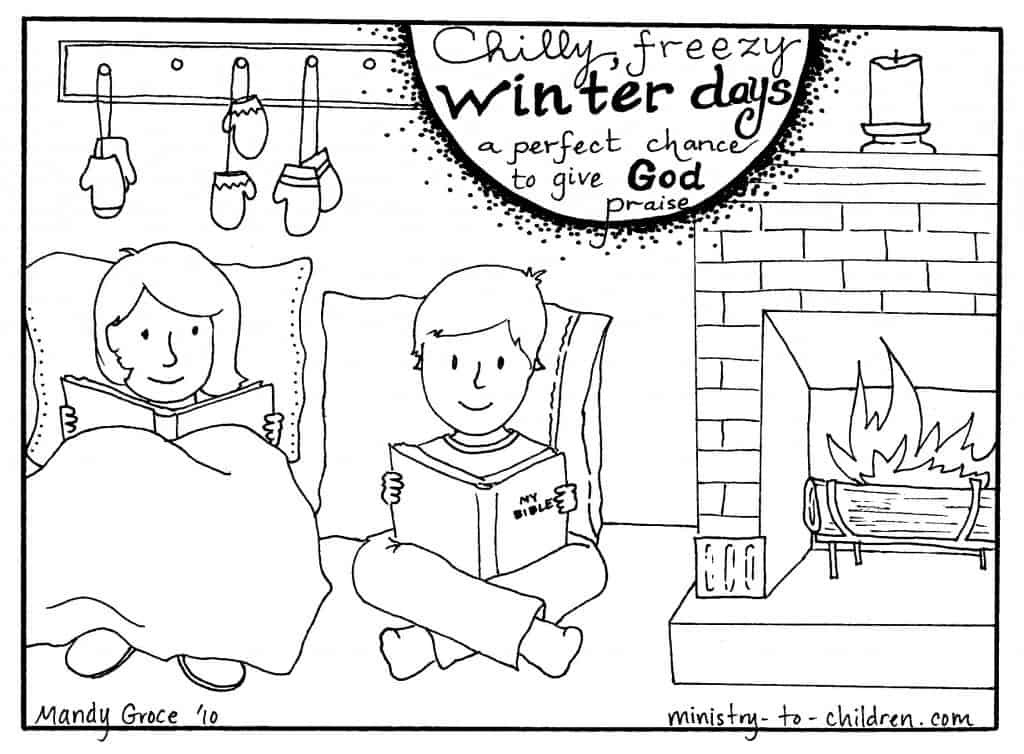 Free preschool coloring pages for christians ~ Winter Coloring Pages for Christian Kids or Sunday School