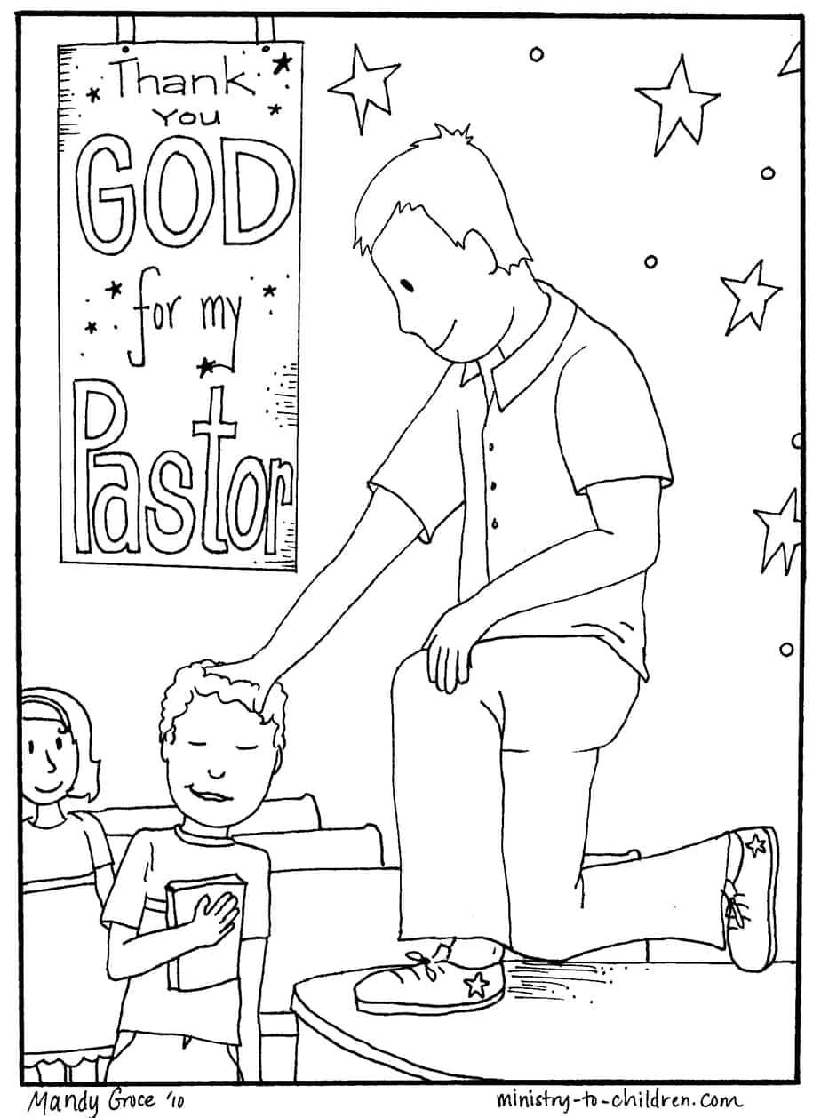 Pastor Appreciation Coloring Page (for October 13, 2019 ...
