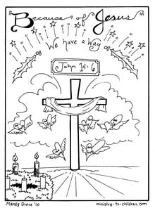 "Christmas Coloring Sheets ""Jesus is our Way "" Free Printable"