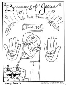 Christian Christmas Coloring Pages \