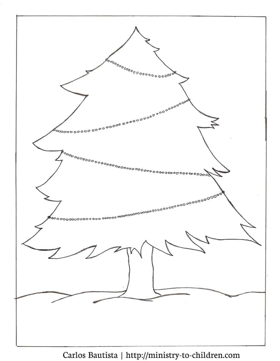 christmas tree coloring picture activity free printables. Black Bedroom Furniture Sets. Home Design Ideas