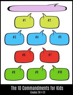 Simplified Ten Commandments for Children