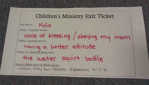Children's Ministry learning tool