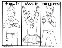 """""""Love God"""" Bible coloring page for kids"""