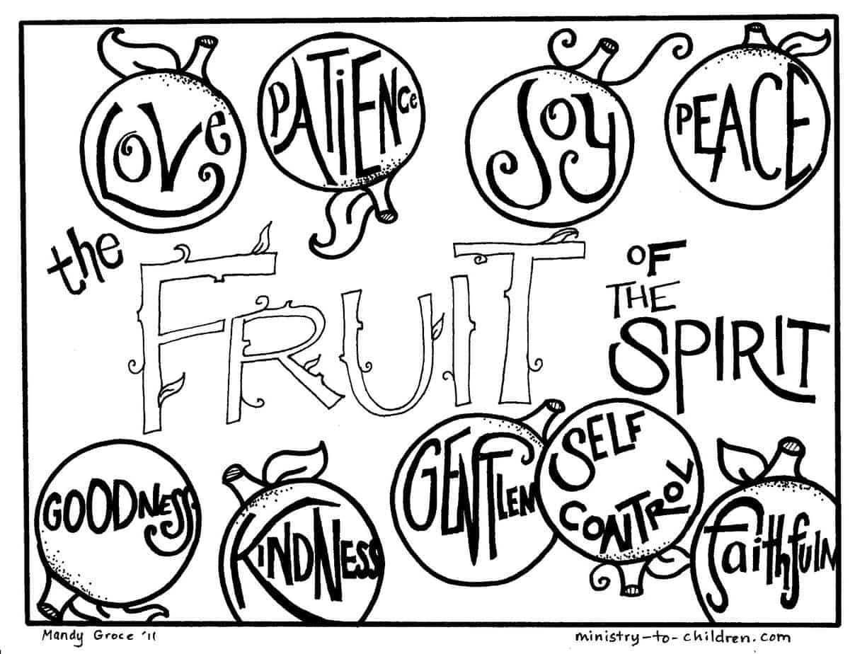 photo relating to Printable Fruit of the Spirit referred to as Fruit of the Spirit Coloring Webpages (cost-free printables)