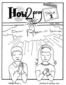 our father prayer coloring pages | Lord's Prayer Coloring Pages