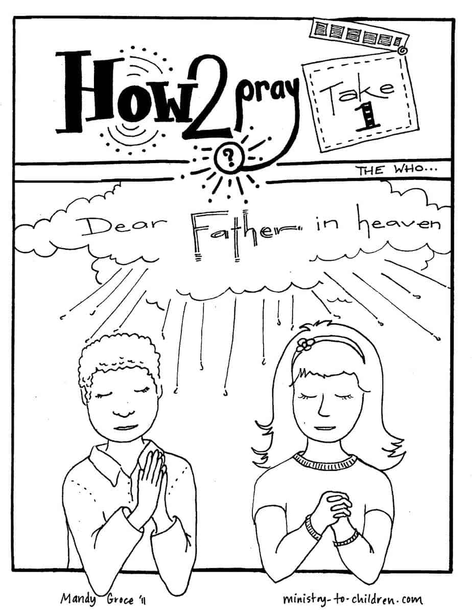 coloring pages about prayer - lord s prayer coloring pages
