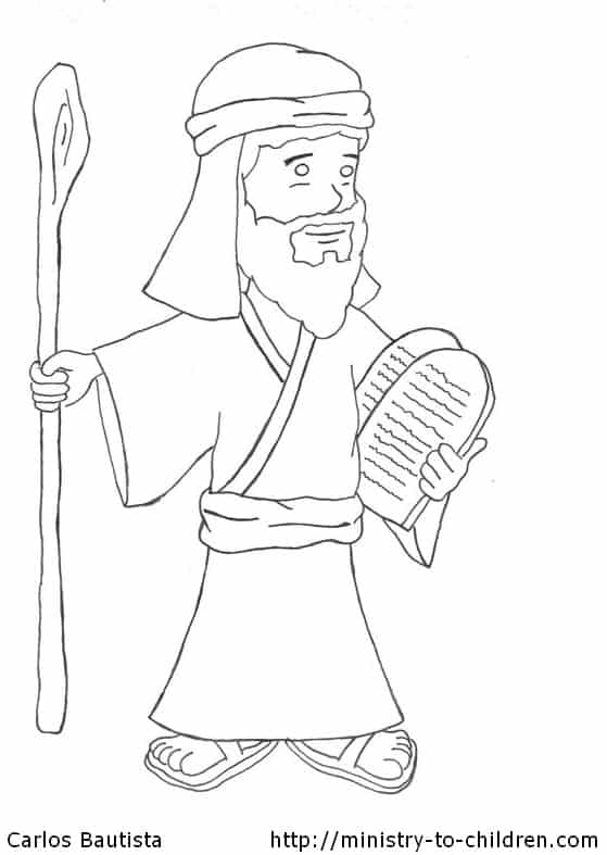 moses ten mandments coloring