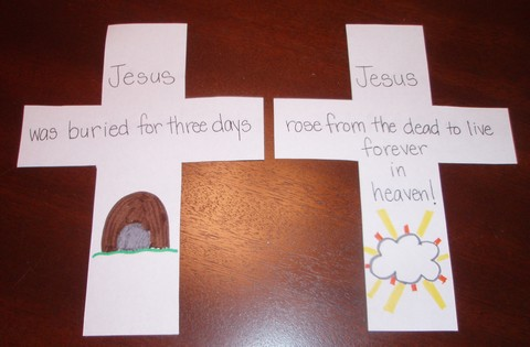 Cross Shape-book Craft Project