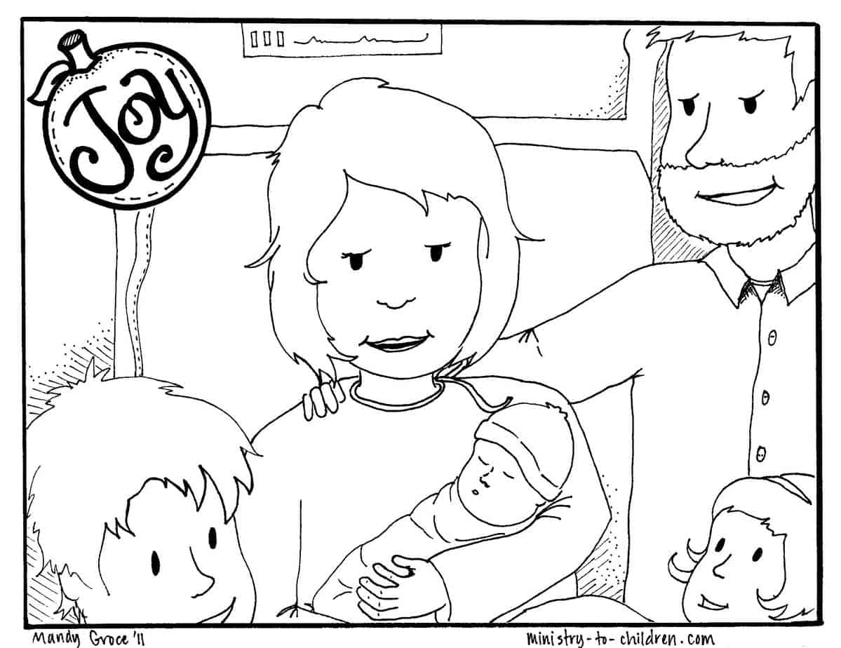 Joy Coloring Page Free Printable For Kids
