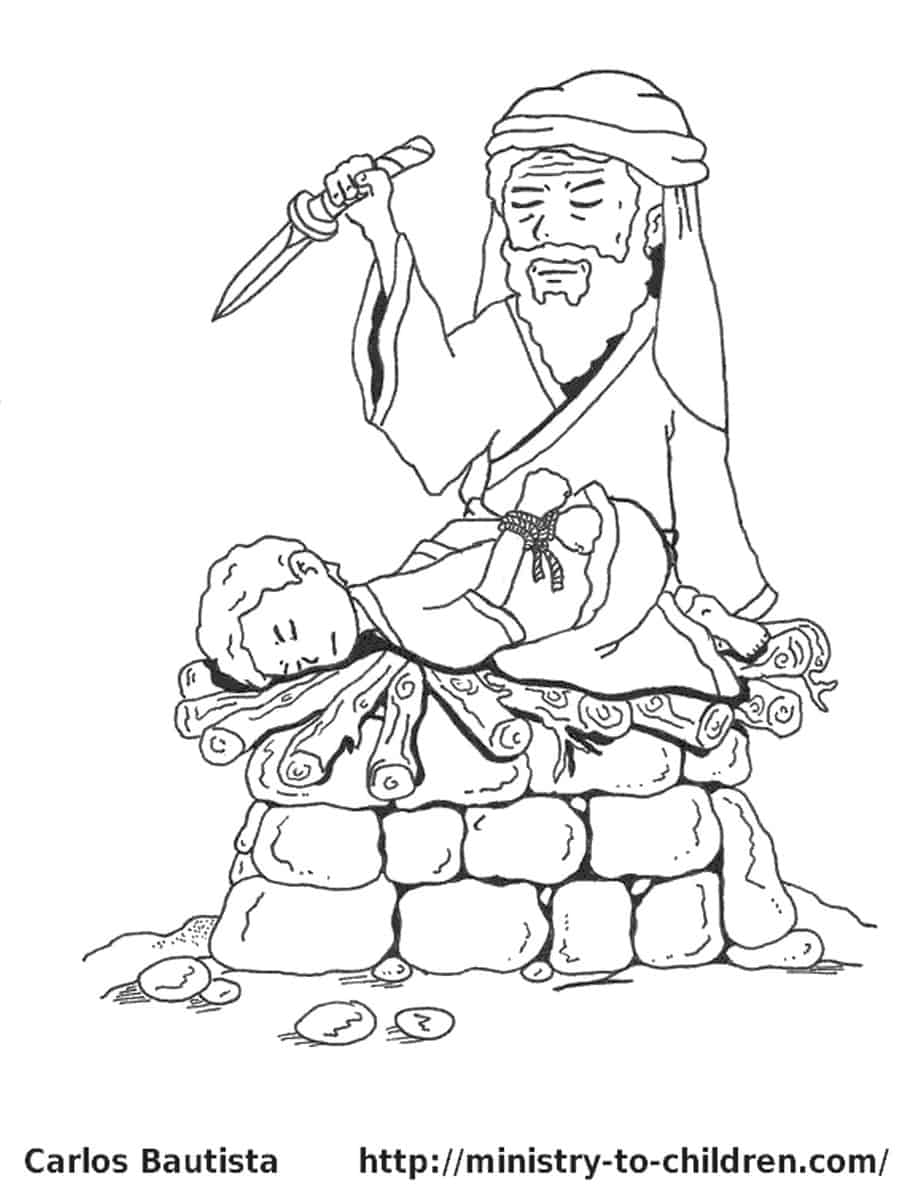 baby isaac bible coloring pages - photo#13