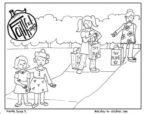 Faithfulness coloring page
