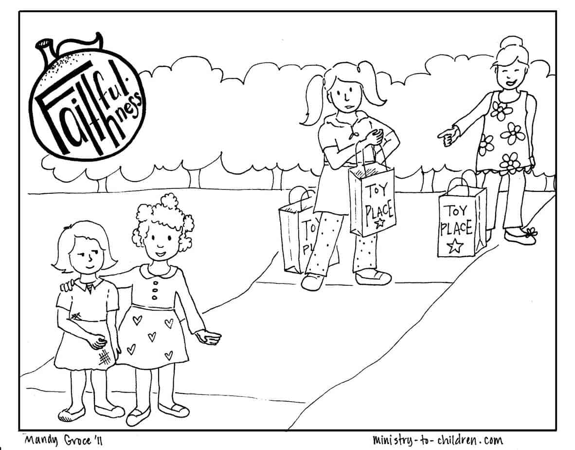 Faithfulness Coloring Page free