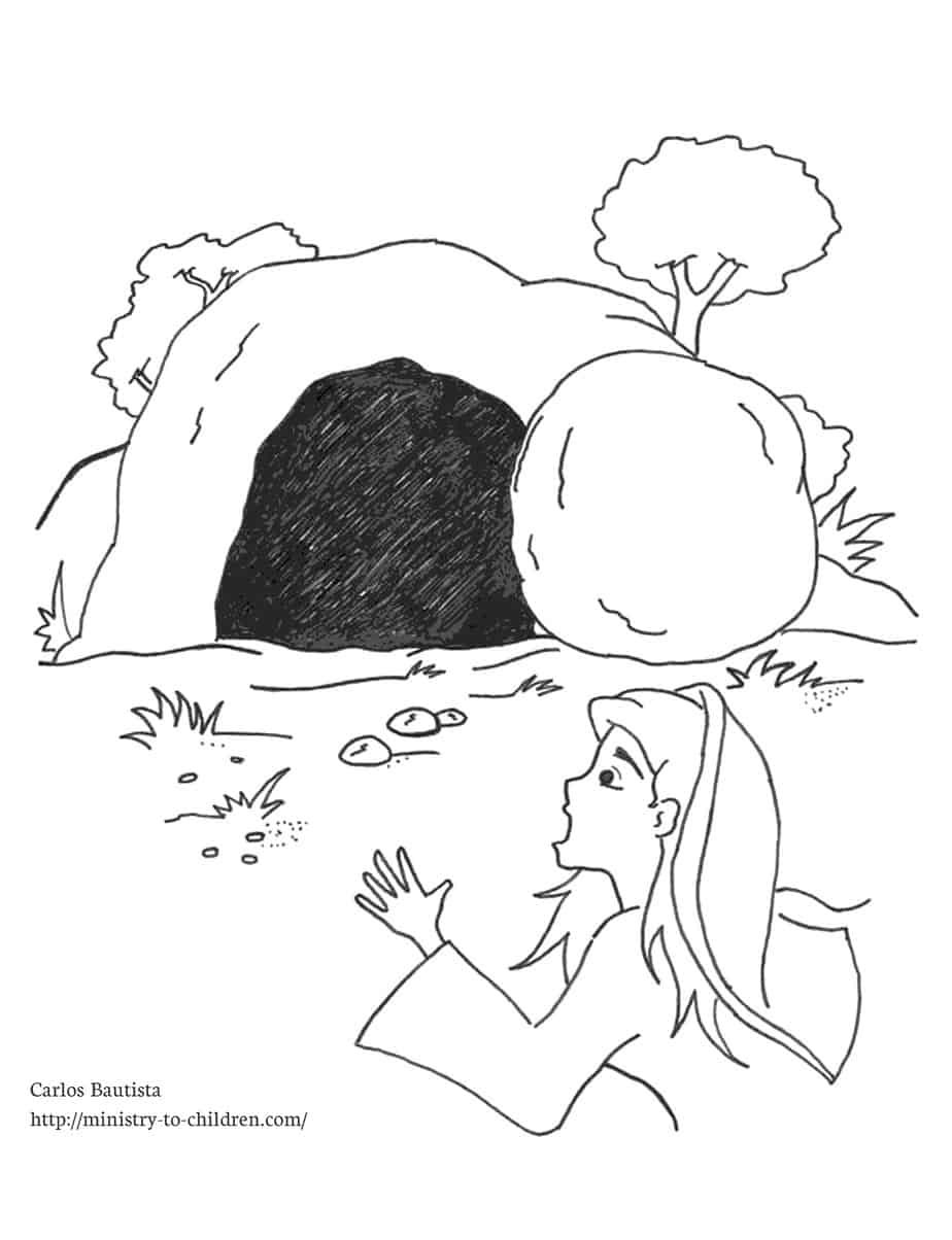 Empty Tomb Coloring Page Free