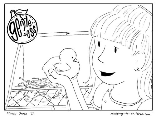 Fruits Spirit Coloring Pages: Gentleness Coloring Page For Kids (Printable & Free