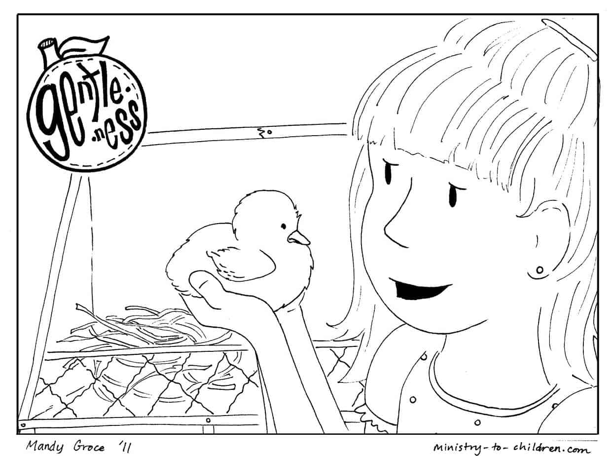 - Gentleness Coloring Page For Kids (Printable & Free)