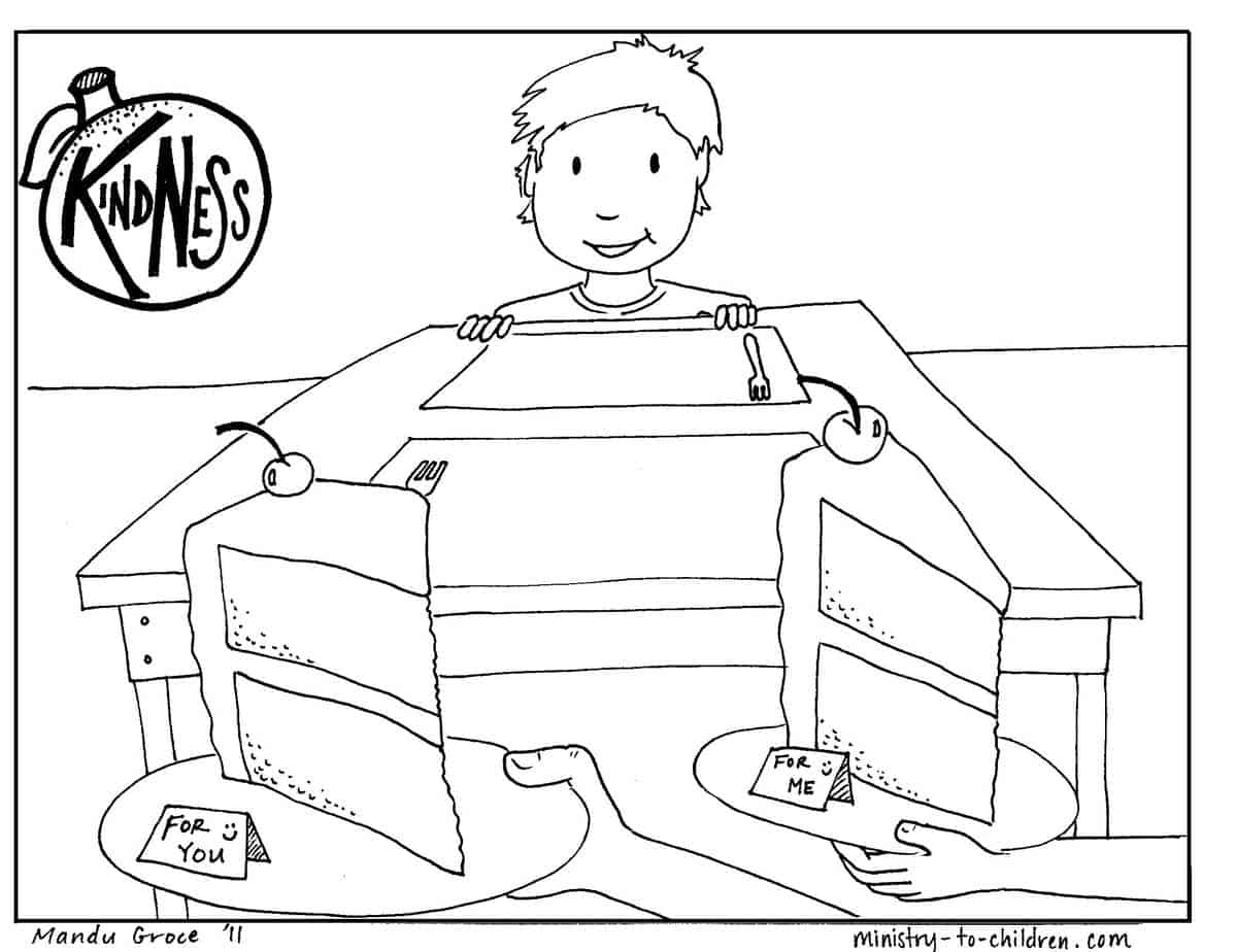 kindness coloring pages free - photo#28
