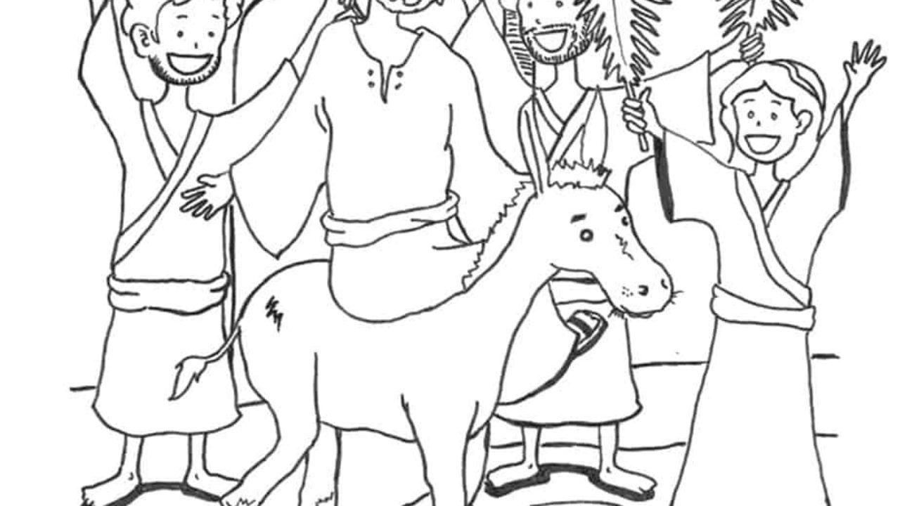 Palm Sunday Coloring Page - Jesus' Triumphant Entry Printable