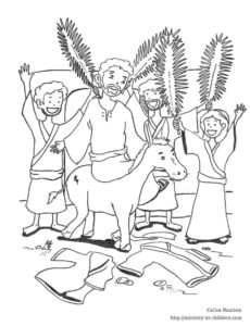 palm sunday coloring page triumphant entry