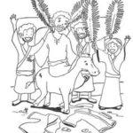 Jesus on Palm Sunday Coloring Page