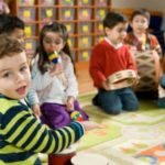 precshool children in classroom