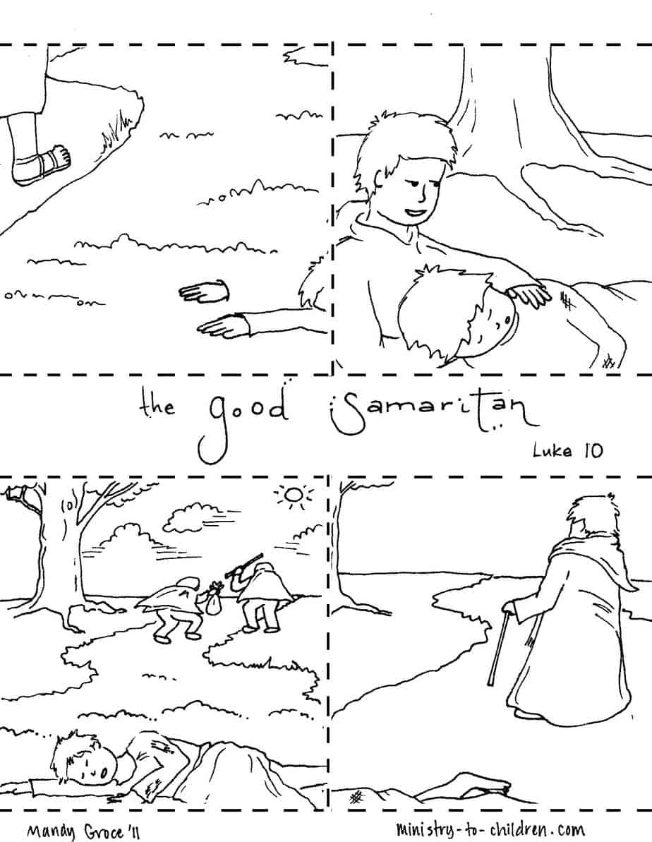 graphic relating to Good Samaritan Coloring Page Printable known as The Terrific Samaritan Coloring Web pages