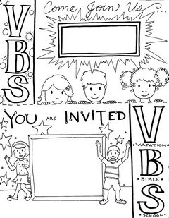 Vacation Bible School invitation card