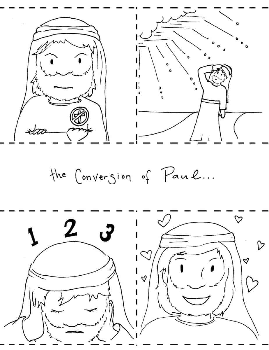 Conversion Of Paul Coloring Pages